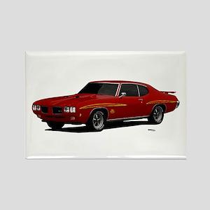 1970 GTO Judge Cardinal Red Rectangle Magnet