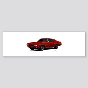 1970 GTO Judge Cardinal Red Sticker (Bumper)
