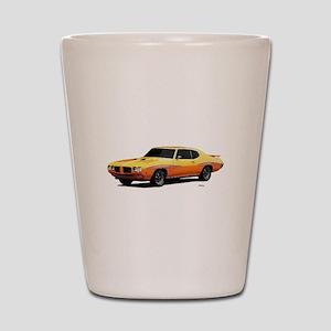 1970 GTO Judge Orbit Orange Shot Glass
