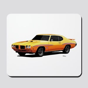 1970 GTO Judge Orbit Orange Mousepad