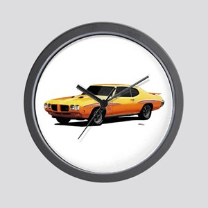 1970 GTO Judge Orbit Orange Wall Clock