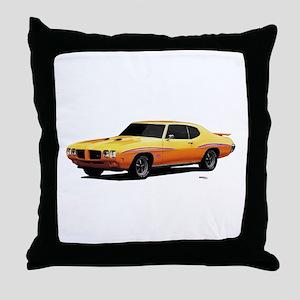 1970 GTO Judge Orbit Orange Throw Pillow
