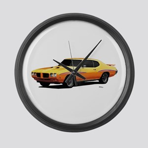 1970 GTO Judge Orbit Orange Large Wall Clock