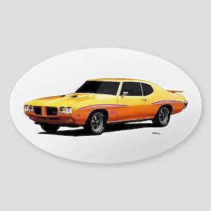 1970 GTO Judge Orbit Orange Sticker (Oval)