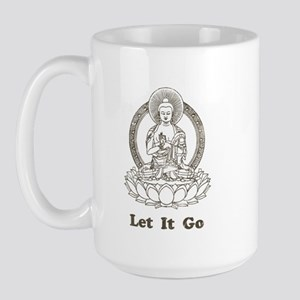 Vintage Buddha Let It Go Large Mug