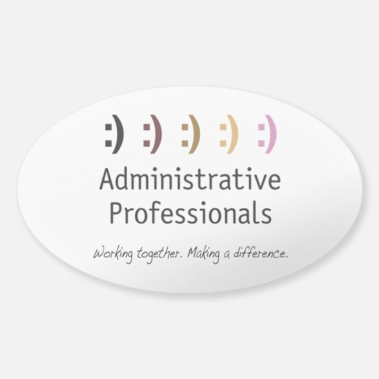 Working Together Sticker (Oval)