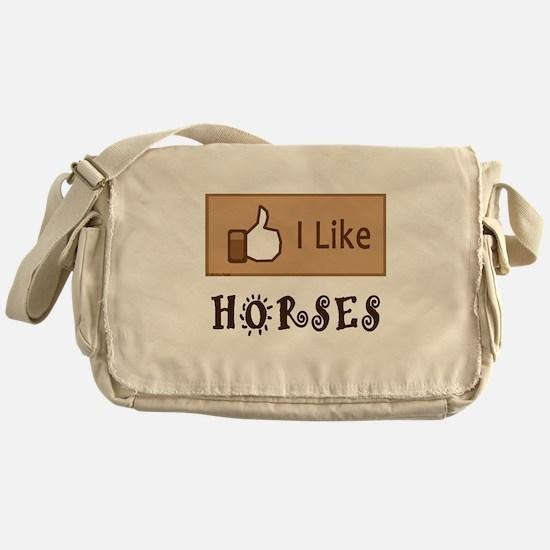I Like Horses Messenger Bag