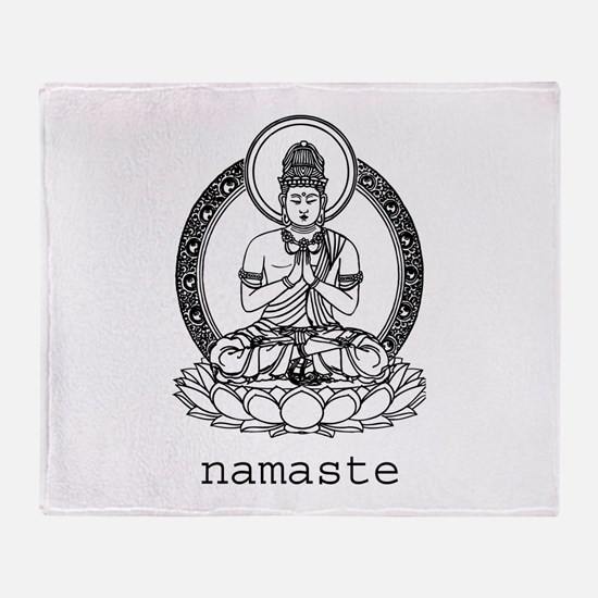 Namaste Throw Blanket