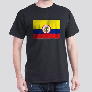 Colombia Presidential Flag Black T-Shirt