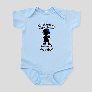 Clocktown Bomber Blue Infant Bodysuit