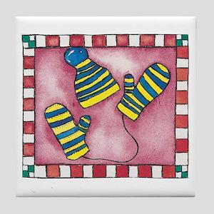 Mittens Tile Coaster