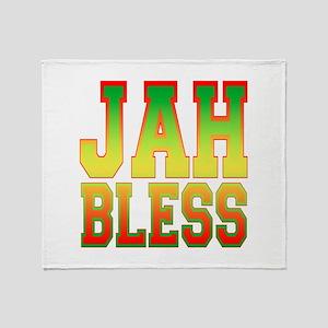 Jah Bless Throw Blanket