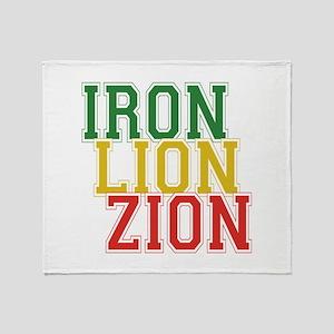 Iron Lion Zion Throw Blanket