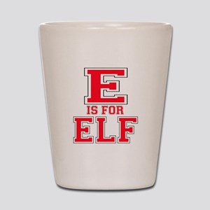 E is for Elf Shot Glass