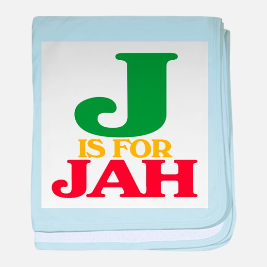 J is for Jah baby blanket