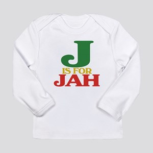 J is for Jah Long Sleeve Infant T-Shirt