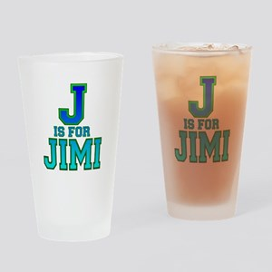 J is for Jimi Drinking Glass