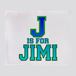 J is for Jimi Throw Blanket