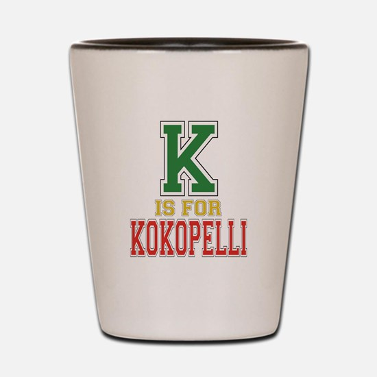 K is for Kokopelli Shot Glass
