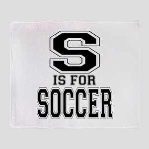 S is for Soccer Throw Blanket