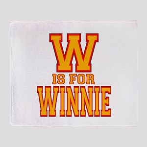 W is for Winnie Throw Blanket