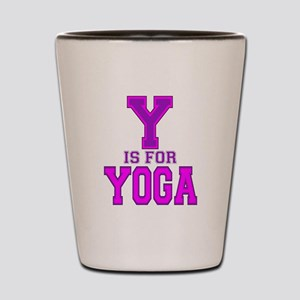 Y is for Yoga Shot Glass