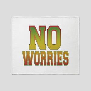 No Worries Throw Blanket