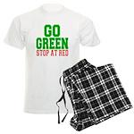 Go Green, Stop at Red Men's Light Pajamas