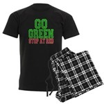 Go Green, Stop at Red Men's Dark Pajamas