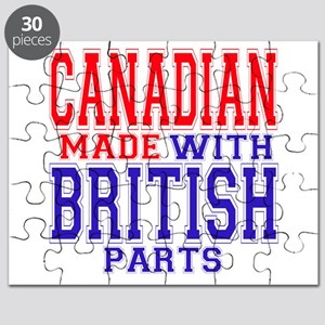 Canadian Made With British Pa Puzzle