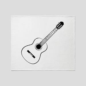 Acoustic Guitar Throw Blanket