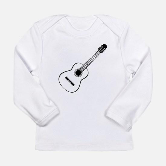 Acoustic Guitar Long Sleeve Infant T-Shirt