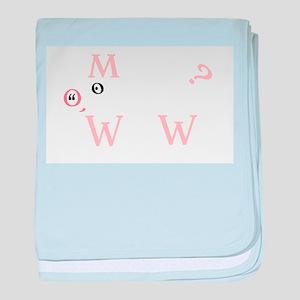 The Letter Pig baby blanket