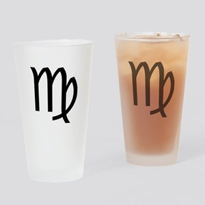 Virgo Symbol Drinking Glass