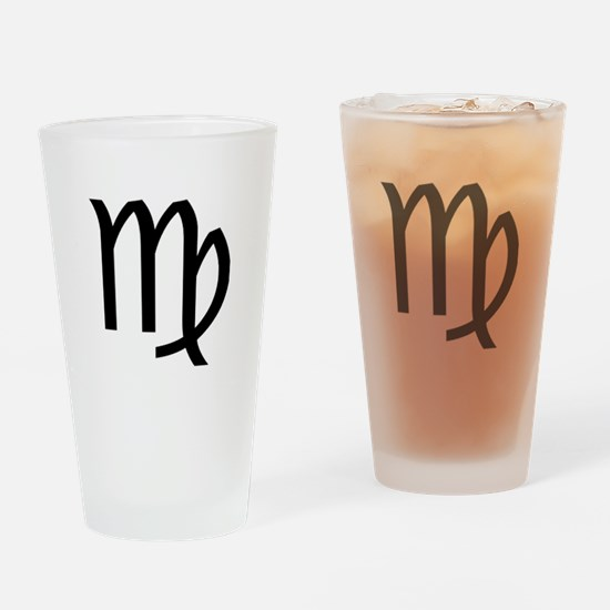 Virgo Symbol Drinking Glass