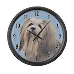 Havanese Large Wall Clock