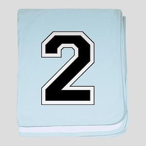 Varsity Font Number 2 baby blanket