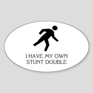 My own stunt double Oval Sticker