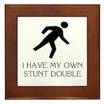 My own stunt double Framed Tile