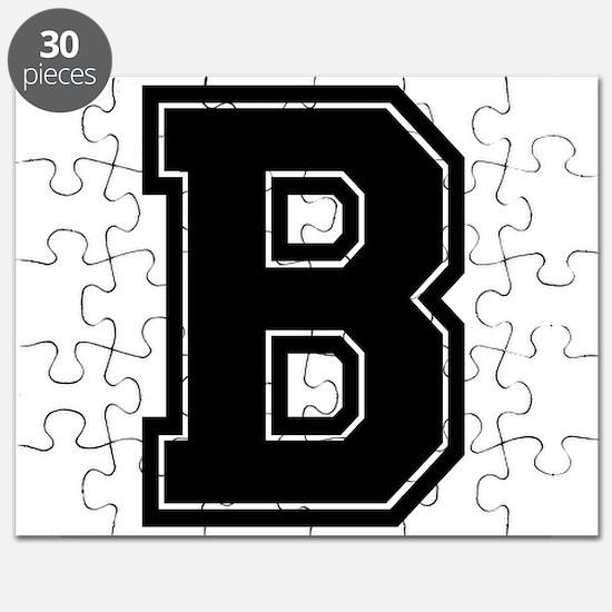 B Varsity Style Font Puzzle