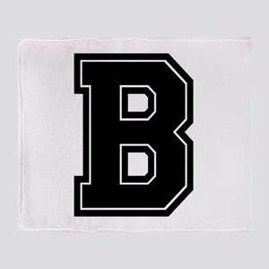 B Varsity Style Font Throw Blanket