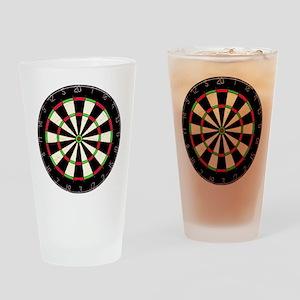Dartboard Drinking Glass