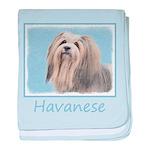 Havanese baby blanket