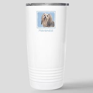 Havanese 16 oz Stainless Steel Travel Mug