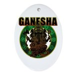 Ganesha5 Ornament (Oval)