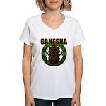 Ganesha5 Women's V-Neck T-Shirt
