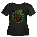 Ganesha5 Women's Plus Size Scoop Neck Dark T-Shirt