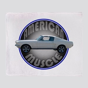 Ford Mustang American Muscle Throw Blanket
