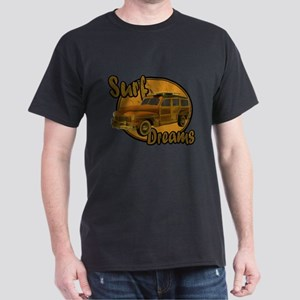 Surf Dreams Woodie Wagon Dark T-Shirt