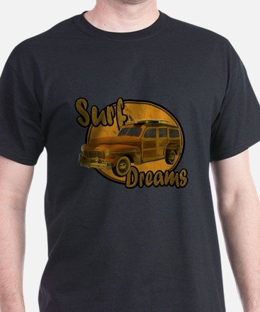Surf Dreams Woodie Wagon T-Shirt